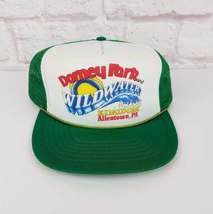 Vintage 1980's Dorney Park & Wildwater Trucker Hat
